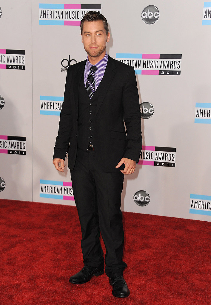 Lance Bass arrived at the 2011 American Music Awards.