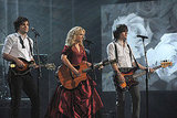 Neil Perry, Kimberly Perry and Reid Perry of The Band Perry performed at the American Music Awards.