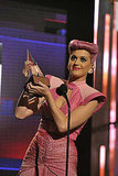Katy Perry showed off her music award.