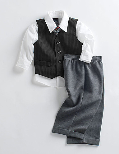 Baby Boys Four-Piece Suit Set