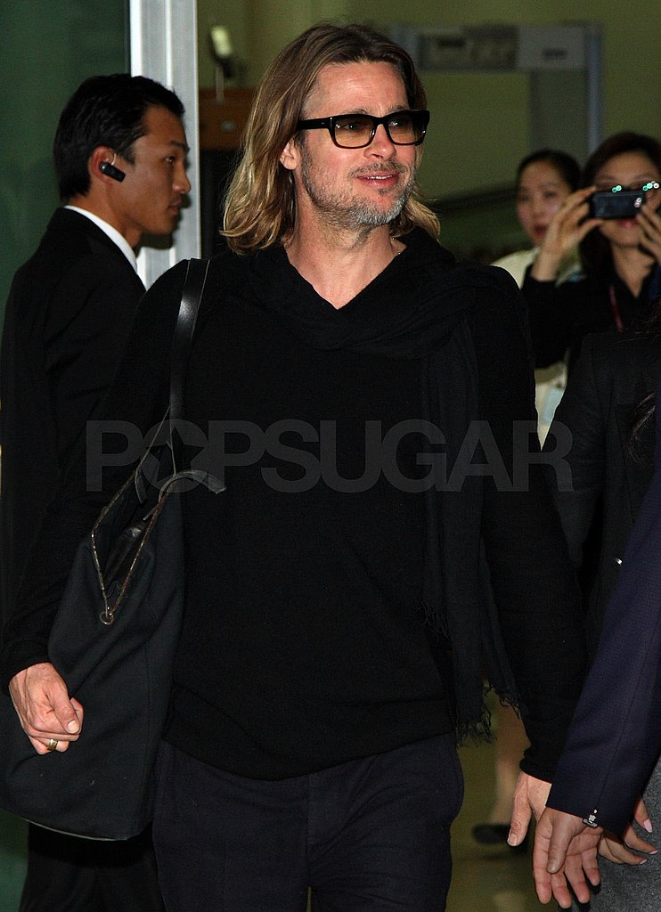 Brad Pitt was greeted with a warm welcome in Seoul.