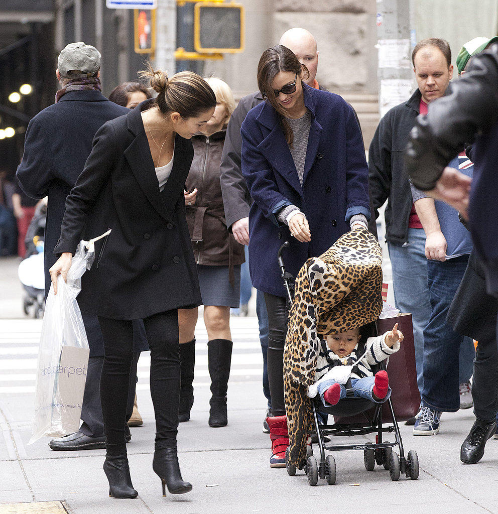 Lily Aldridge couldn't get enough of Miranda Kerr's baby, Flynn Bloom.