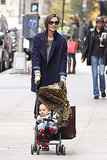 Miranda Kerr and Flynn Bloom went for a stroll in NYC.
