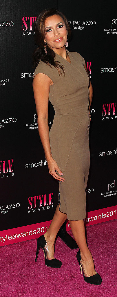 Eva stepped out in one of Victoria Beckham's designs.