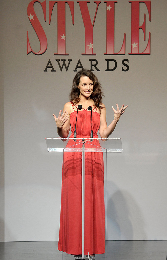 Kristin took the stage to hand out an award.