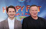 Robin Williams and Elijah Wood joked on the red carpet at the Happy Feet Two premiere.
