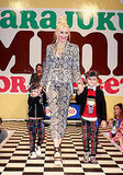 Gwen Stefani led her little guys out onto the runway.