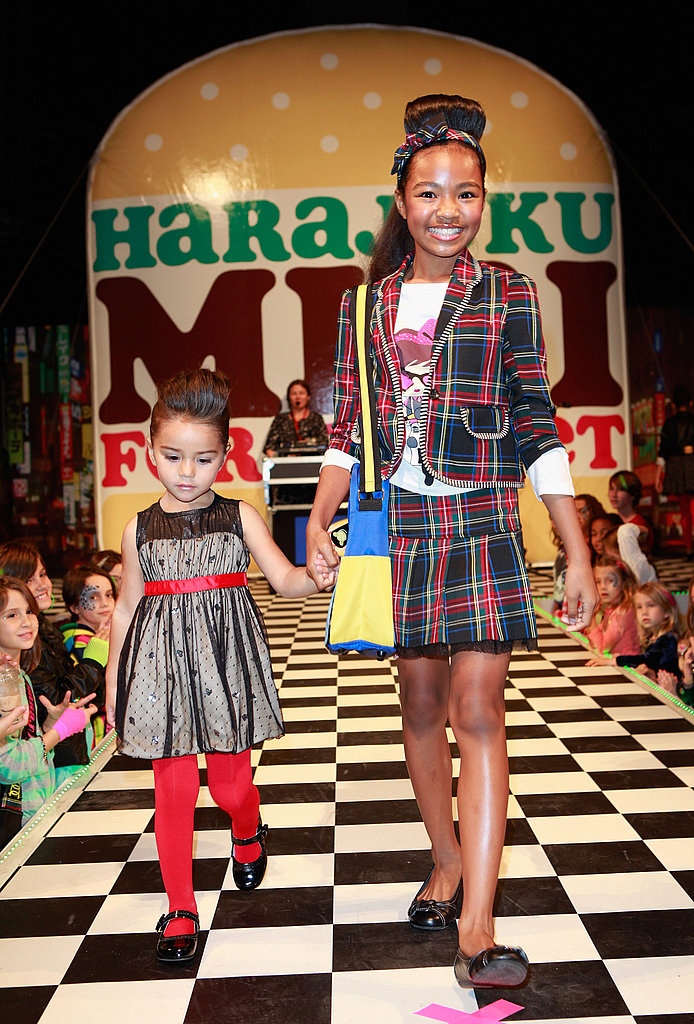 Big and little girls walked in the kid-centric fashion show.