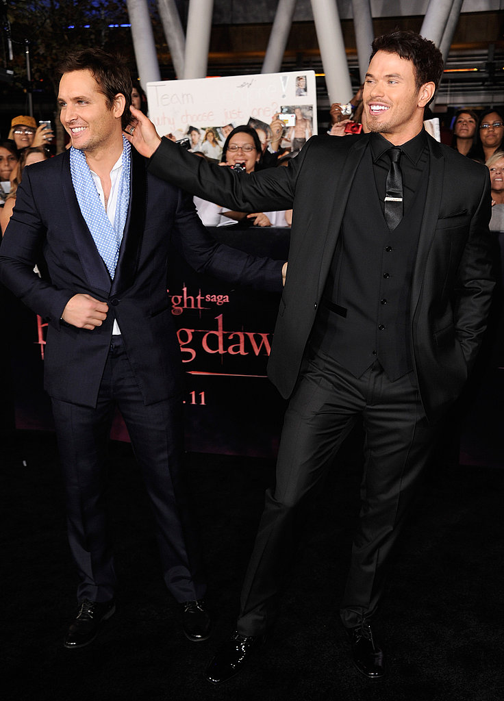 Kellan Lutz and Peter Facinelli got goofy.