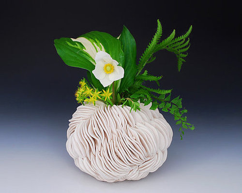 Textured Pottery Vase White by WhiteEarthStudio on Etsy