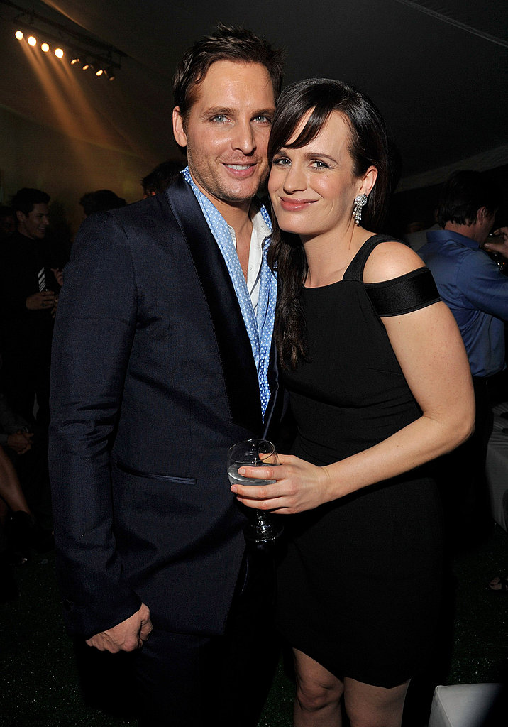 Peter Facinelli and Elizabeth Reaser caught up at the Breaking Dawn afterparty.
