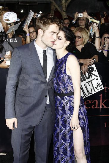 It seemed like Kristen Stewart went in for a kiss with Robert Pattinson.
