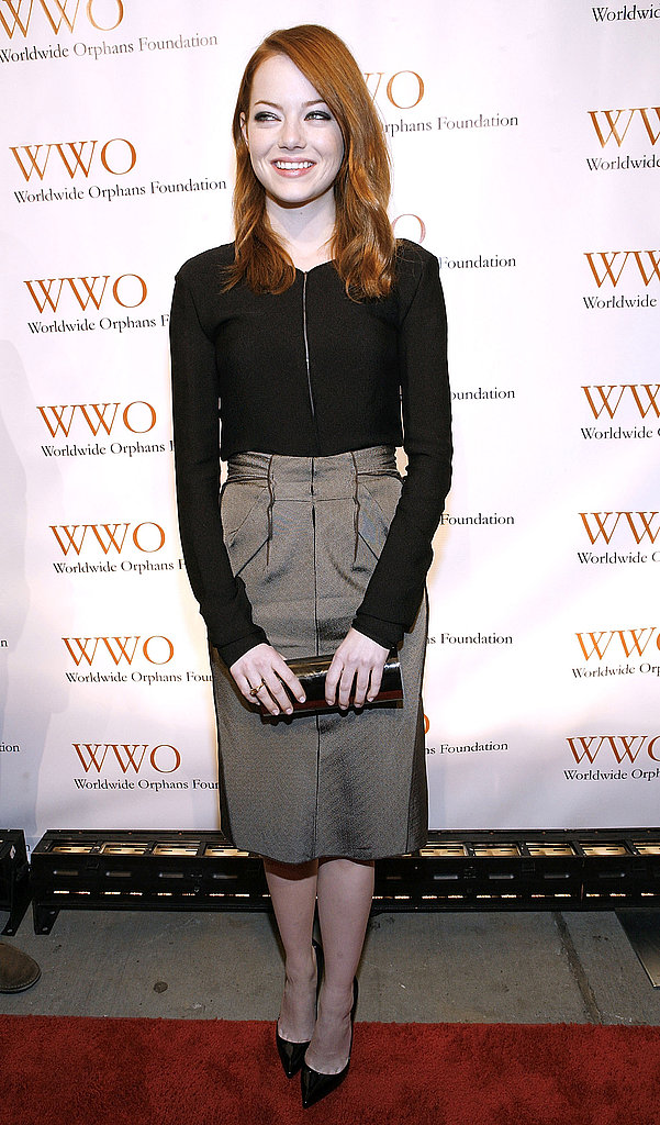 Emma Stone smiled on the red carpet at the 7th Annual Worldwide Orphans Foundation Benefit.