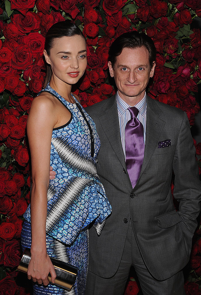 Miranda Kerr caught up with Vogue's Hamish Bowles at an event in NYC for MoMA.