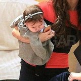 Harper Beckham was too cute in her baby headband!
