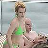 Britney Spears Green Bikini Pictures in Rio
