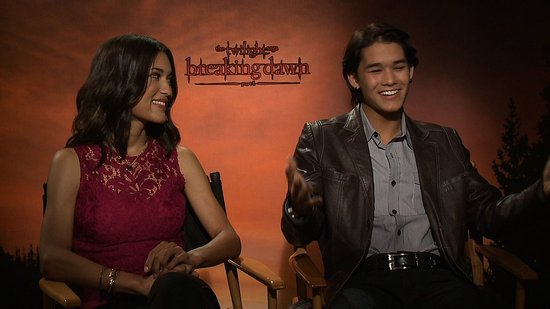 "Booboo Stewart and Julia Jones Talk ""Powerful"" Breaking Dawn Birth and Wedding Scenes"