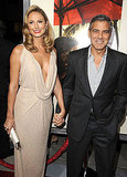 George Clooney and Stacy Keibler held hands on their way to see The Descendants in LA.