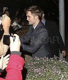 Robert Pattinson took a time out between his premiere and afterparty.