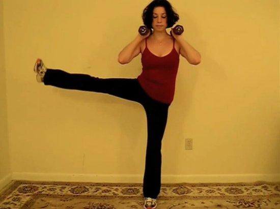 Balancing Side Leg Lift Squat