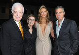 George Clooney and Stacy Keibler met up with George's parents, Nick Clooney and Nina Bruce.