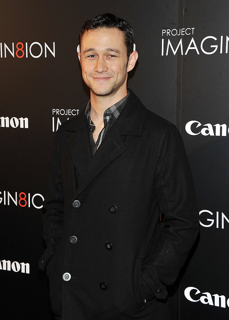 Joseph Gordon-Levitt smiled for photographers.