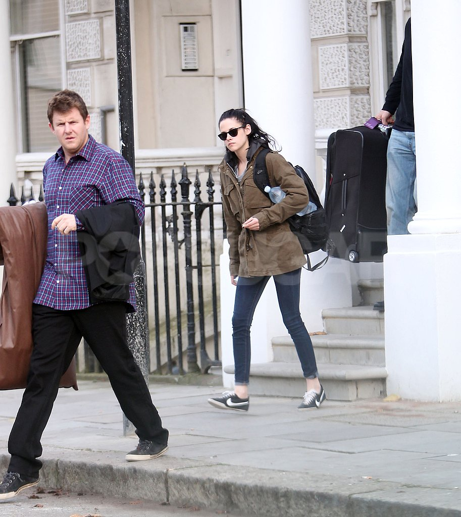 Kristen Stewart headed out to run errands before the Breaking Dawn premiere in London.