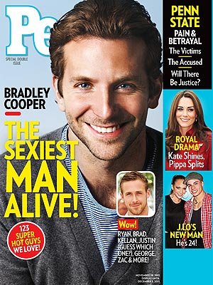 Bradley Cooper is the 2011 Sexiest Man Alive.