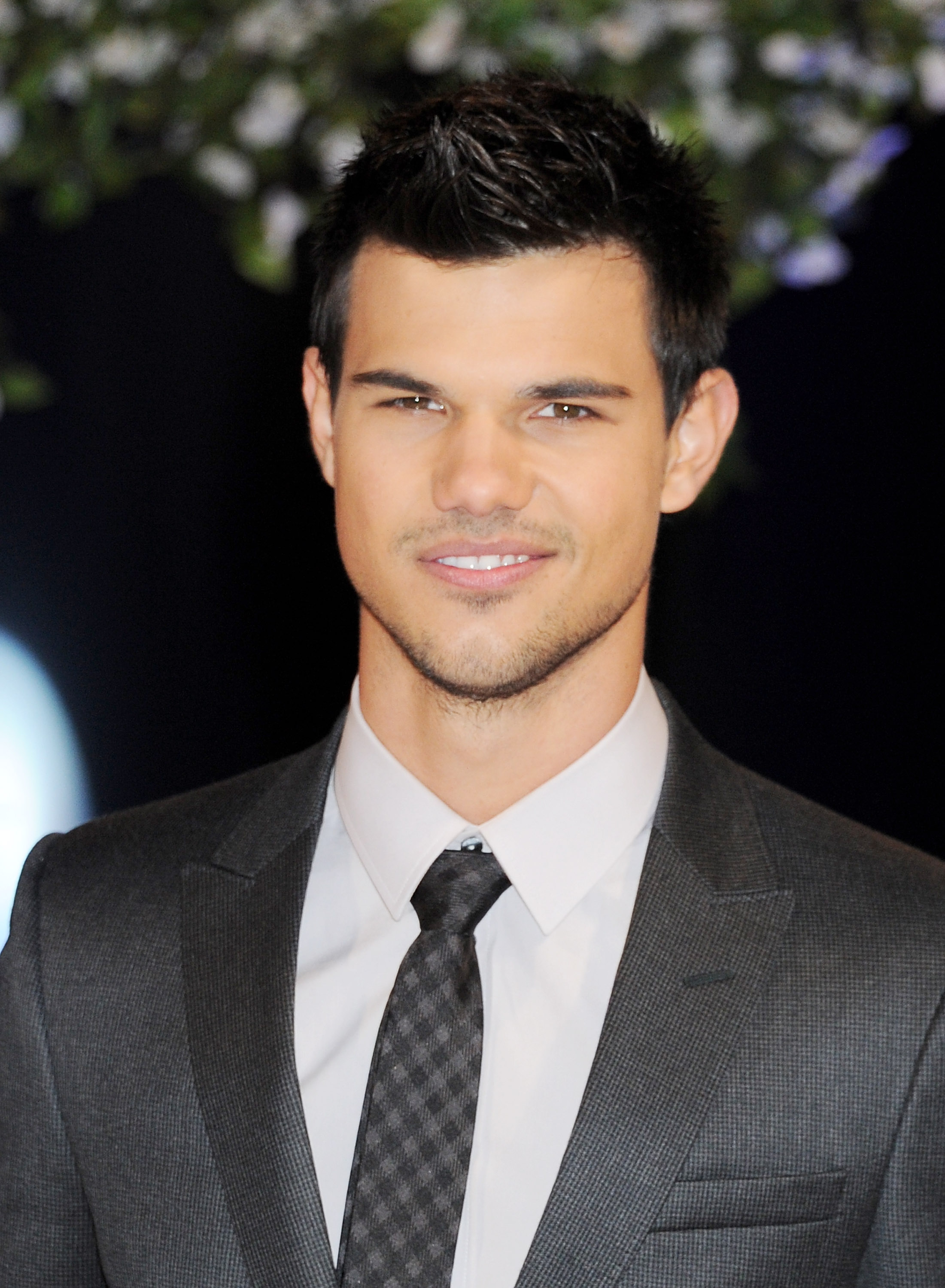 Taylor Lautner at the UK premiere of Breaking Dawn Part 1.
