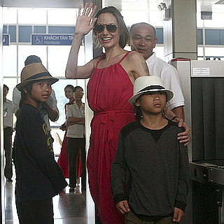 Angelina Jolie, Maddox, and Pax at Vietnam Airport Pictures