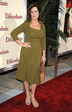 Marcia Gay Harden wore an olive green dress.