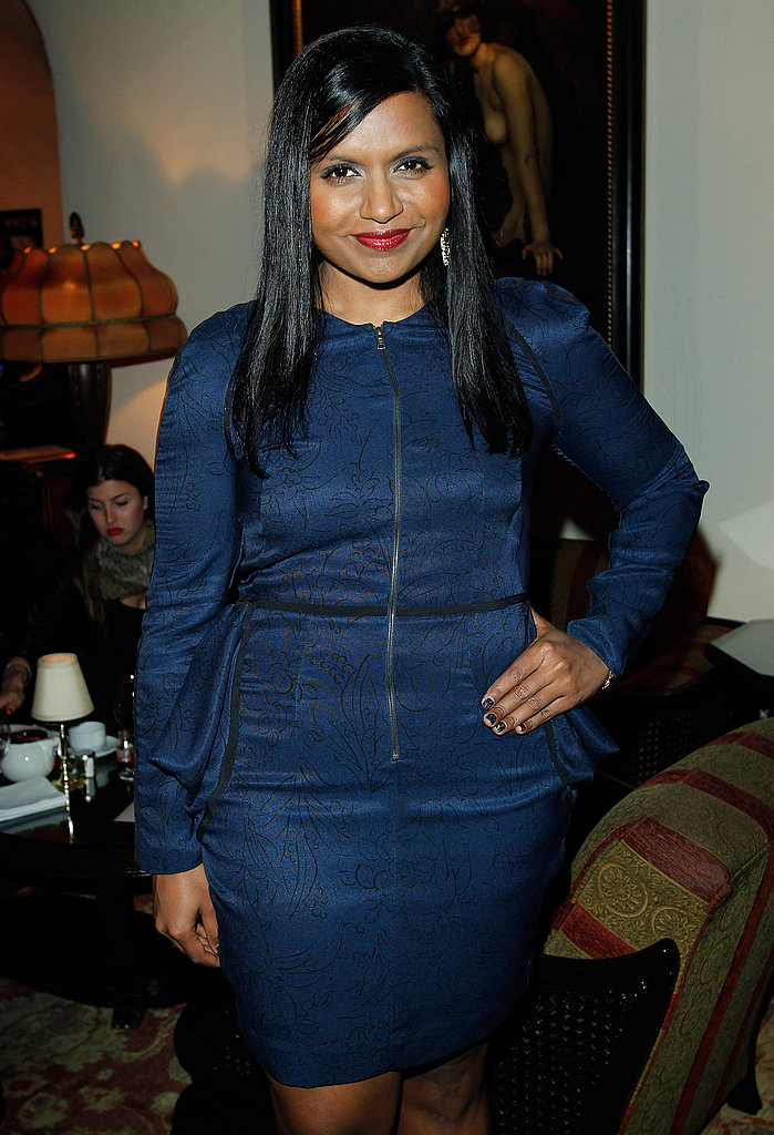 Mindy Kaling stepped out in a chic shade of navy.