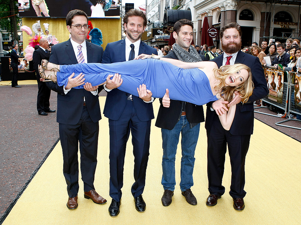 Bradley and his wolf pack costars had fun with Heather Graham at the UK premiere of The Hangover in 2009.