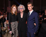 Emma Stone and Andrew Garfield posed with Dr. Jane Aronson at the Worldwide Orphans Foundation's Seventh Annual Benefit Gala in NYC on Nov. 14.