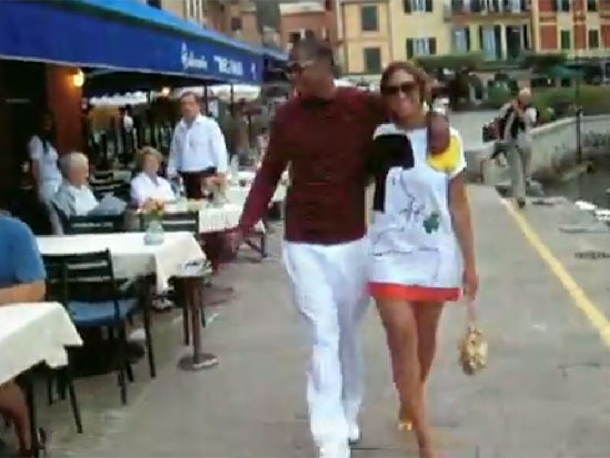 Beyoncé Knowles and Jay-Z looked loved up on a vacation.