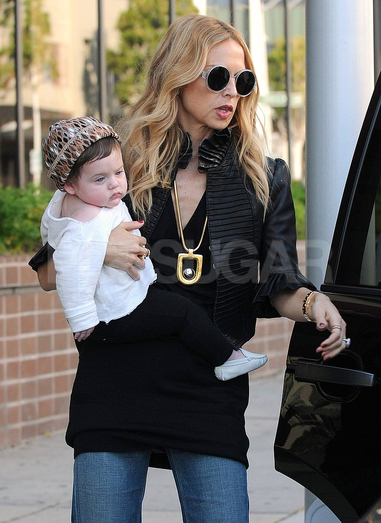 Rachel Zoe brought baby Skyler with her to run errands.