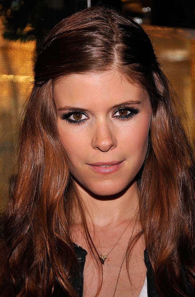 Kate Mara wore a smoky eye to the boutique opening.