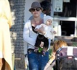 Pink and baby Willow out at a Malibu park.