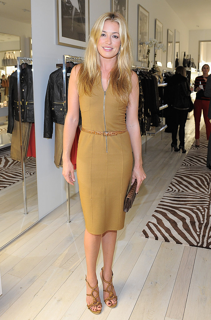 Cat Deeley looked chic in a neutral shade.