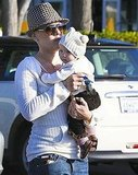 Pink and baby Willow at a Malibu park.