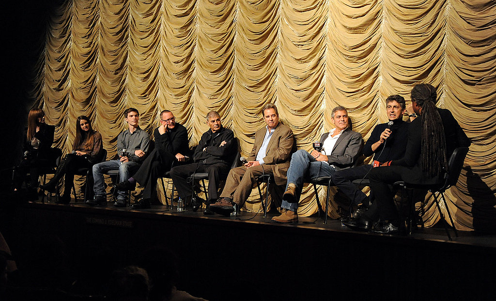 George Clooney sat with the cast of The Descendants after a screening at the LACMA.