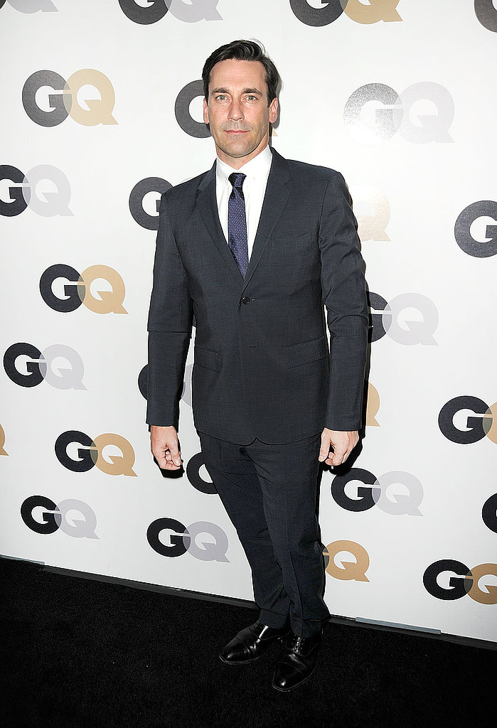 Jon Hamm took a solo turn on the black carpet.