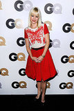 Anna Faris went for a sweet red ensemble.