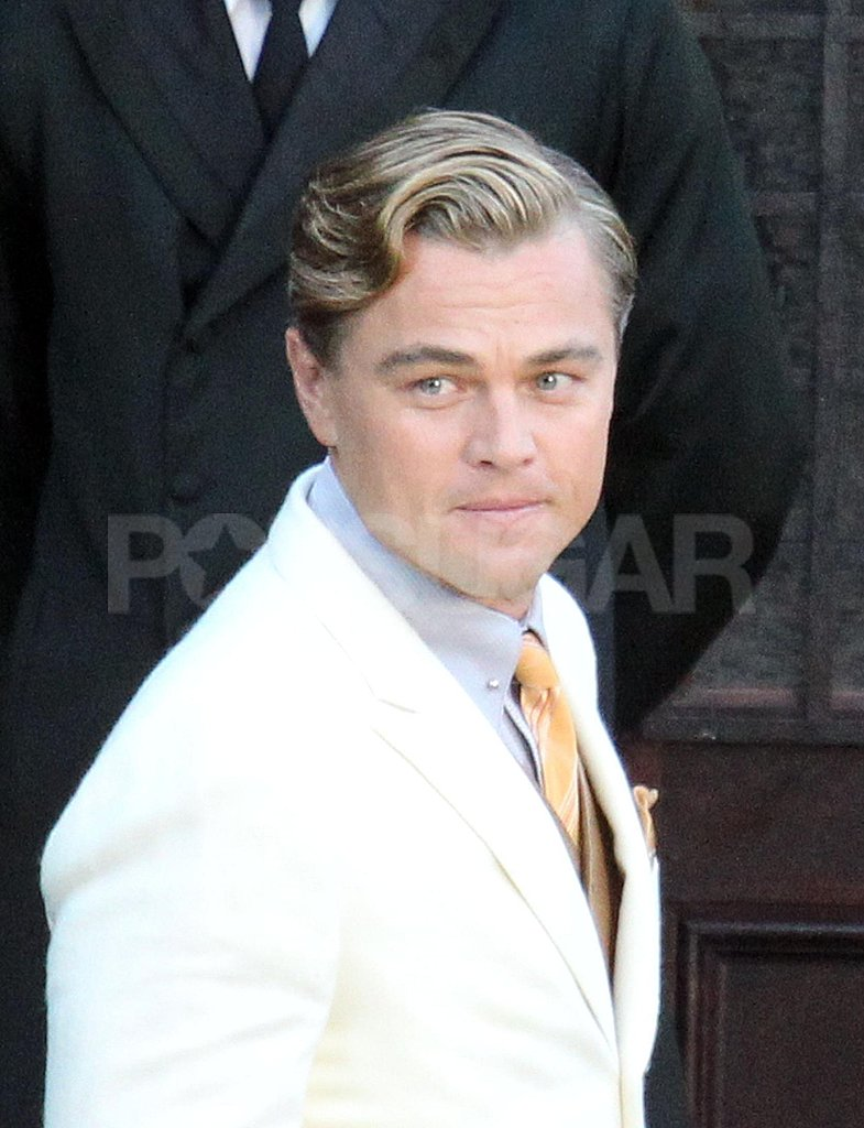 Leonardo DiCaprio looked handsome on set.