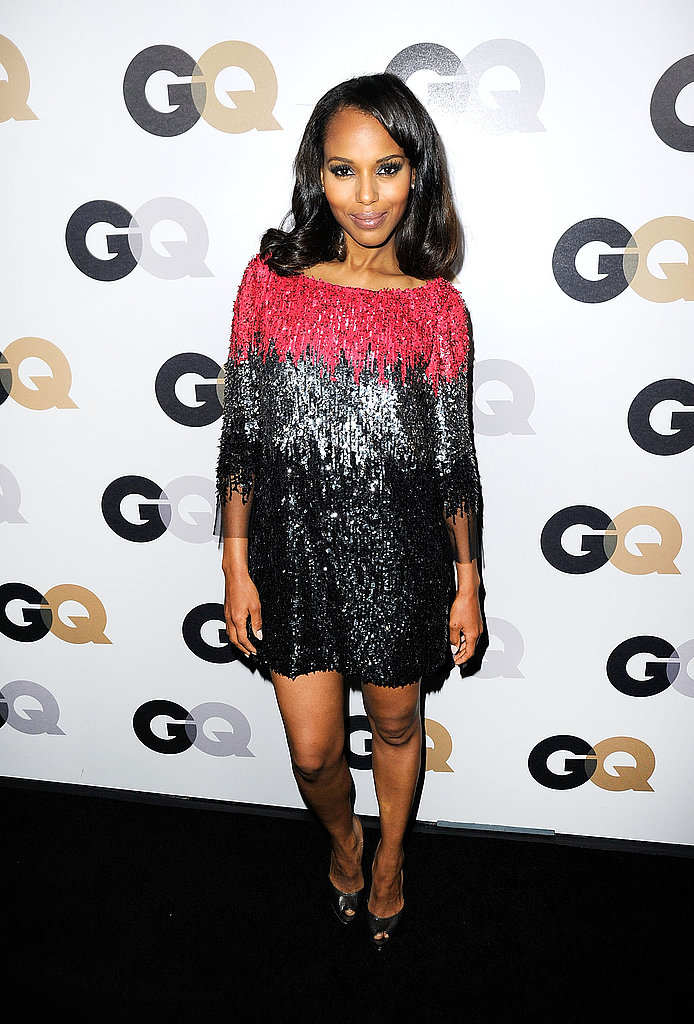 Kerry Washington in a sparkly dress.