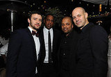 Chris Mitchell, Justin Timberlake, and Jay-Z stepped outside at the Chateau Marmont.