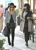 Rachel Zoe and Mandana Dayani at lunch in LA.