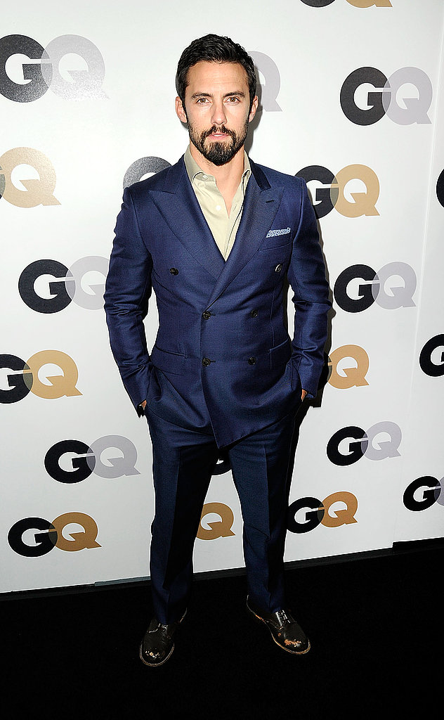 Milo Ventimiglia wore a double-breasted suit jacket to a GQ party.