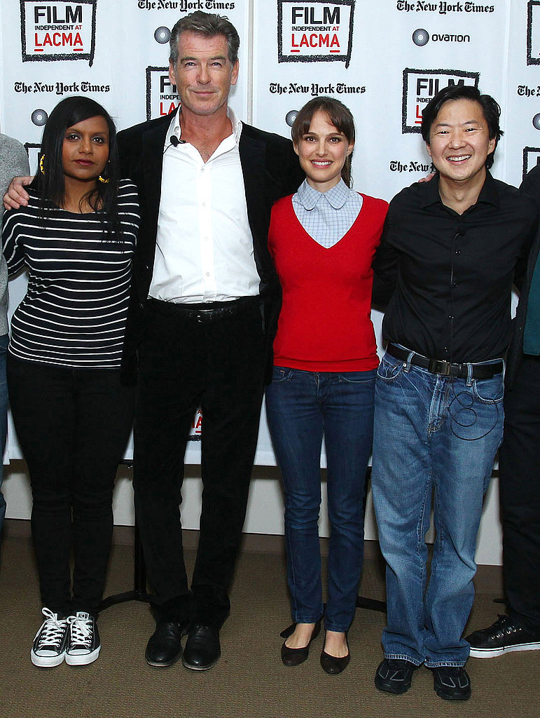Natalie Portman,Pierce Brosnan, Mindy Kaling, and Ken Jeong in LA.