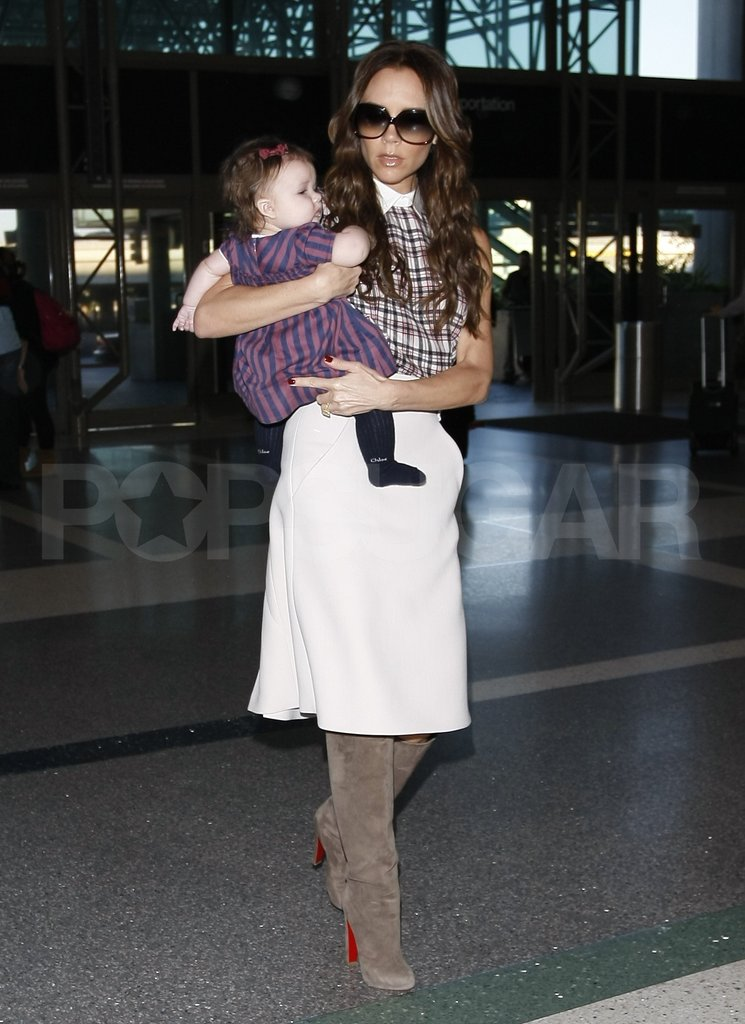 Victoria Beckham and Harper Beckham left the Beckham boys at home.